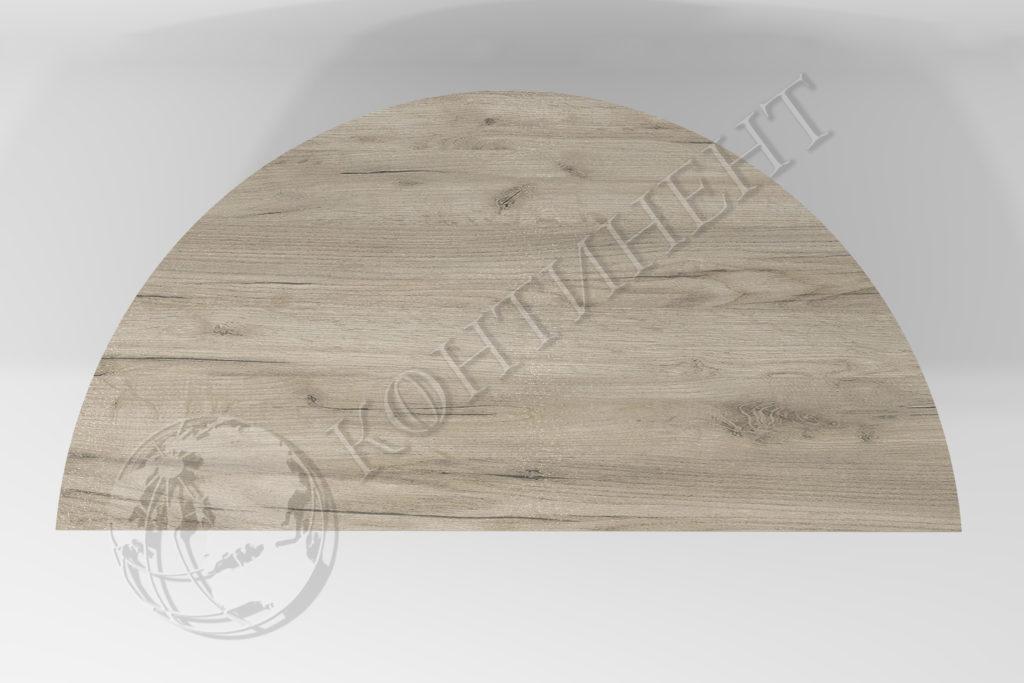 Форма приставного стола С - 1000 x 500 x 16