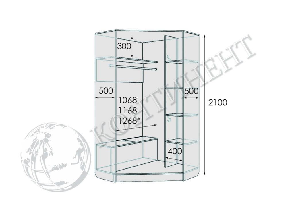 М-1 - 1100х1100х2100 схема