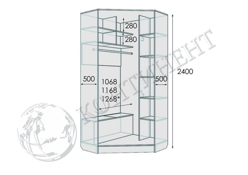 М-1 - 1100х1100х2400 схема