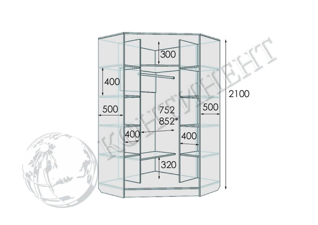 М-2 - 1200х1200х2100 схема