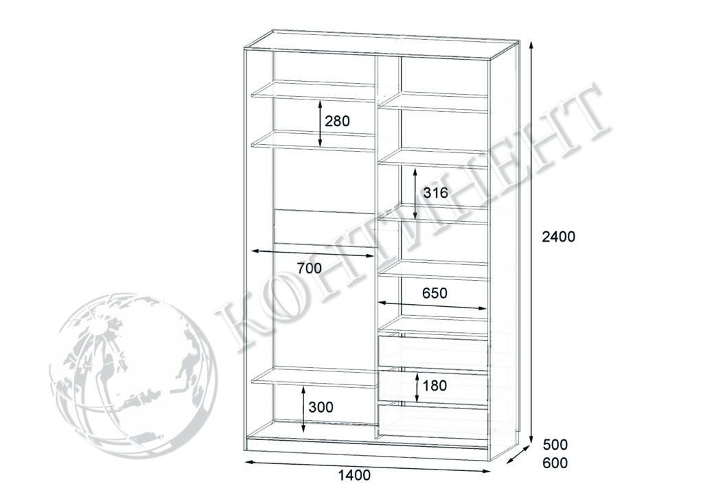 ШК-N-2 - 1400х500(600)х2400 схема