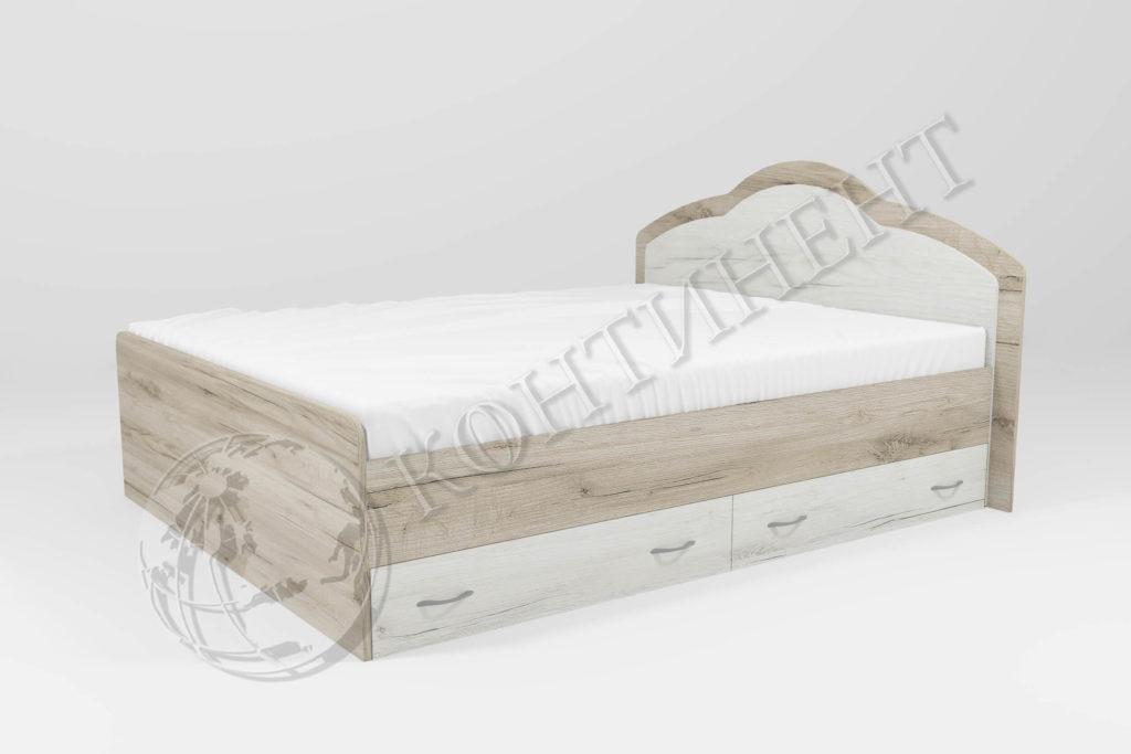Ліжко Діана з двома ящиками (1260 х 2035) (Сп. м. 1200 х 2000); (1460 х 2035) (Сп. м. 1400 х 2000); (1660 х 2035) (Сп. м